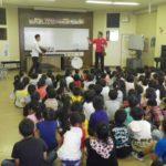 仙台フィルの団員の方たちによる漫才のような授業に子供たちも大うけです。